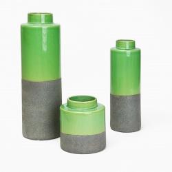 Váza TS2681C-H41 keramická mechově zelená pr.14 výš.41 cm