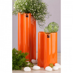 Váza BS430-38 květina oranžová 13x13x38cm