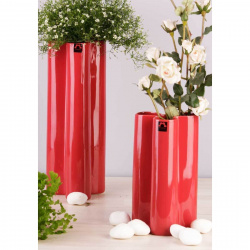 Váza BS430-38 květina bordó 13x13x38cm