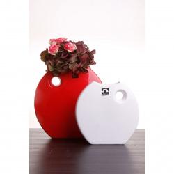 Váza Arros 845-22 červená lesklá v23x23cm