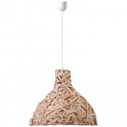 Stínítko k osvětlení bulb hnědý 48x42 cm