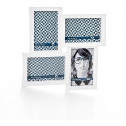 Fotorámeček plastový bílý 4x10x15cm závěsný