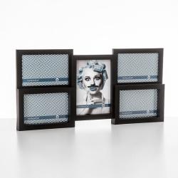 Fotorámeček plastový černý 4x10x15cm a 13x18cm závěsný