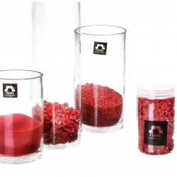 Barevný písek 0.5 mm vínový (350 ml)
