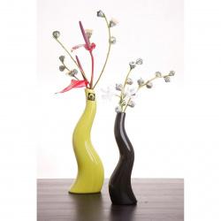 Váza Cele 183-23 zelená lesklá v23x8x5cm