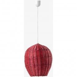 Stínítko k osvětlení egg červený šířka 16cm výška 23cm