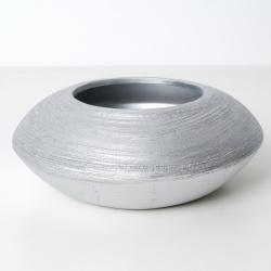 Miska keramika stříbrná 18cm