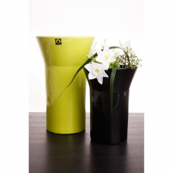 Váza Conie 920-25 černá lesklá v25x18x9cm