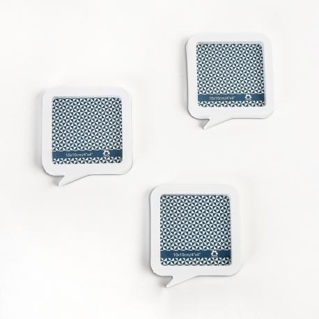 Fotorámeček plastový bílý set 3x10x10cm magnetický