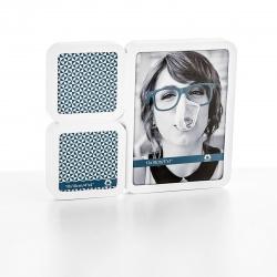 Fotorámeček plastový bílý 2x10x10cm a 13x18cm stolní