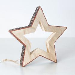 Hvězda závěs dřevo 15cm