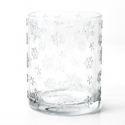Svícen sklo pr.9,8 V12,3cm čirý