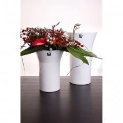 Váza Conie 920-25 bílá lesklá v25x9x18cm