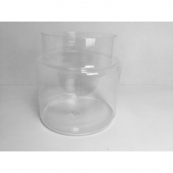 Váza skleněná tube pr. 32cm