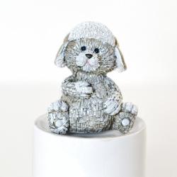 Dekorace Bear Bubu šedá 8 cm