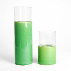 Svícen keramika - sklo Planta TS2363-H33 Mech zelená pr.11 výš. 34 cm