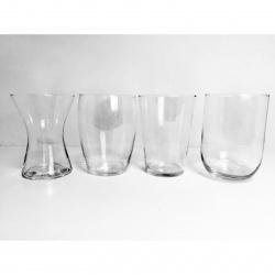 Vázy skleněné sada 4 výška 20cm