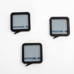 Fotorámeček plastový černý set 3x10x10cm magnetický