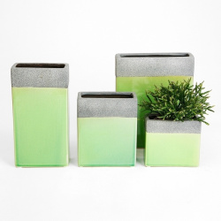 Váza TS3263C-12 keramická mechově zelená 12.5 x 6 x 23.5 cm