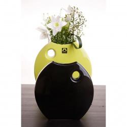 Váza Arros 845-18 černá lesklá v18x18cm