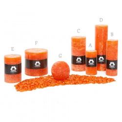 Svíčka Rustik Planta RCB80 020 Oranžová (6) 80 mm (G)