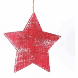 Dekorace hvězda malá Red Montana 4