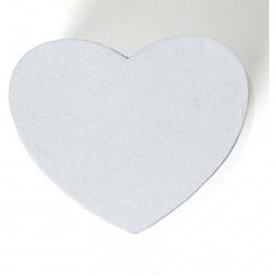 Flower box srdce 16x14 v.10cm stříbrný/gliter